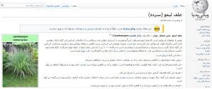 گزارشی از فعالیت زرگیاه در ویکی پدیا